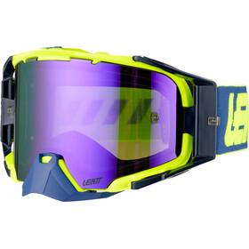 Leatt Velocity 6.5 Anti Fog Mirror Gafas, azul/amarillo